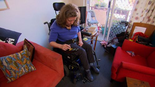 Fiona Hall may have to stop charging her wheelchair.