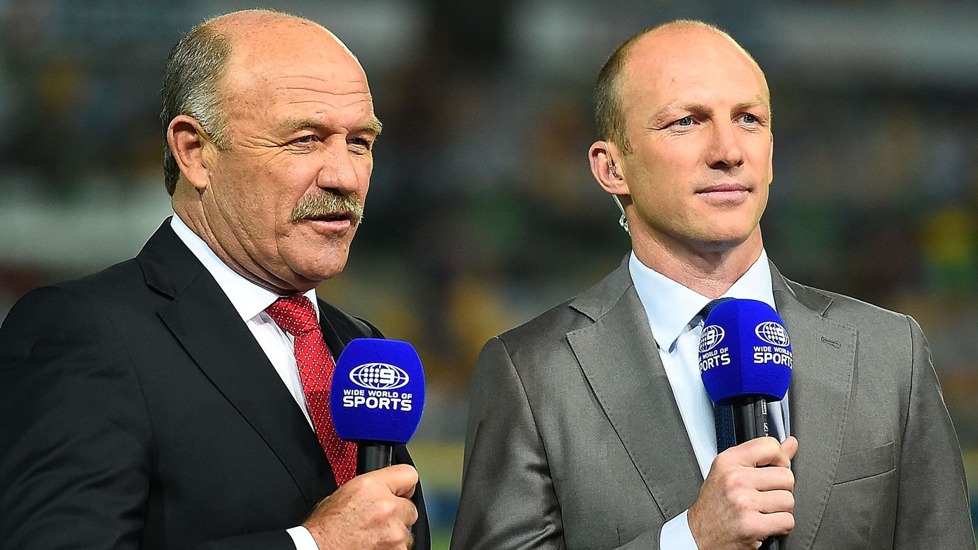Wally Lewis and Darren Lockyer