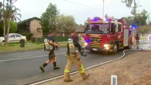 Fire crews arrived at the scene in Frankston, in Melbourne's south-east, just before 5am today. (9NEWS)
