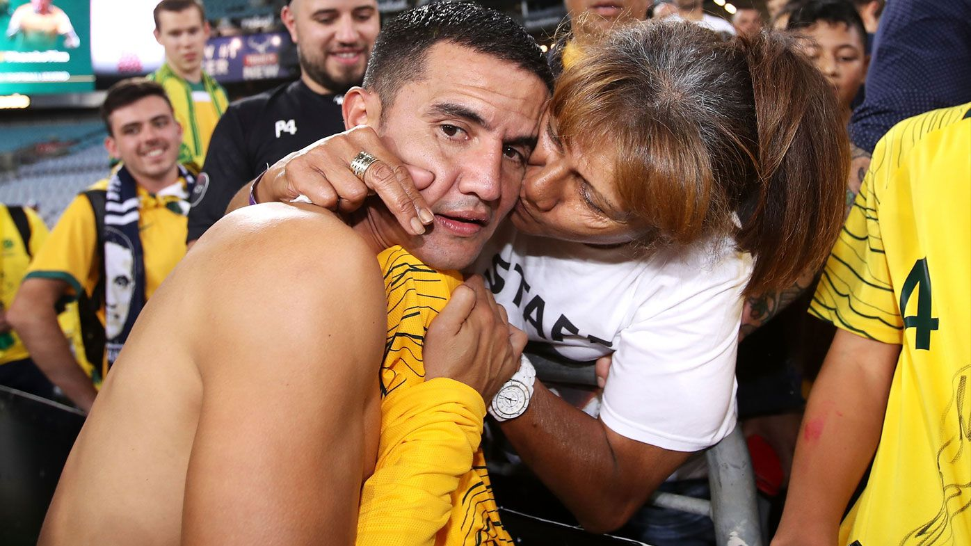 'This is the only time you're going to see me cry': Emotional Tim Cahill breaks down in Socceroos swansong