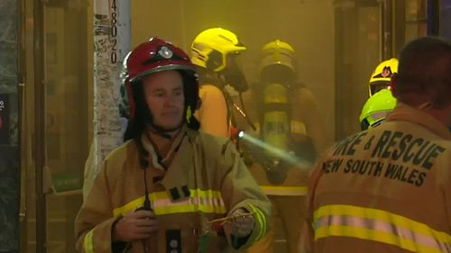 Firefighters commended staff who were able to evacuate all the guests from the busy club. (9NEWS)