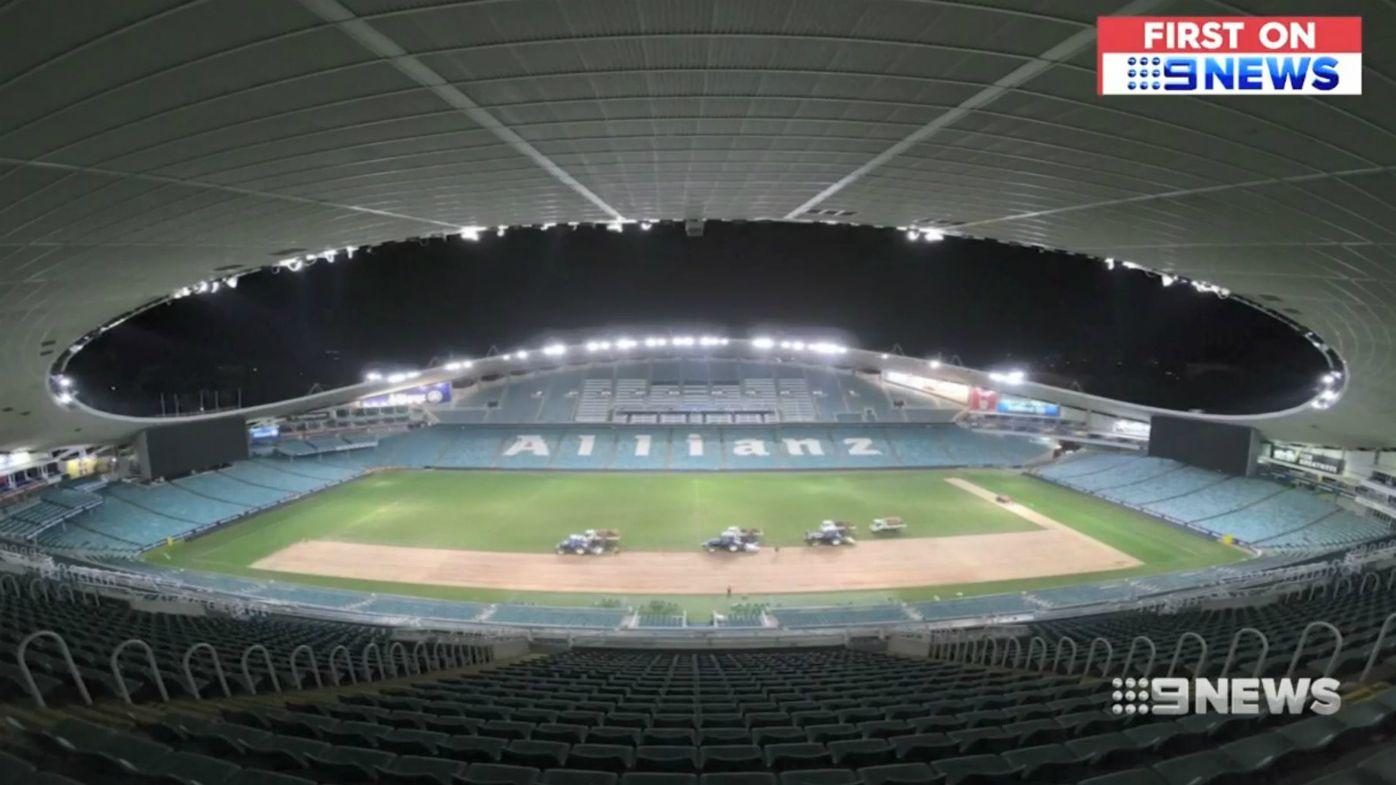 WATCH: Allianz Stadium under goes $750,000 re-turf ahead of ANZAC Day Test