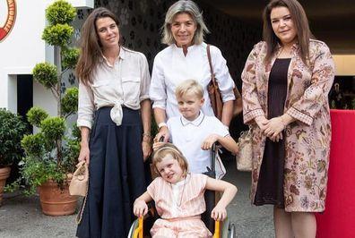 Princess Caroline, Princess Gabriella, Prince Jacques at Monaco International Dog Show 2021