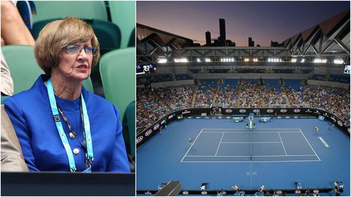 Tennis pros are among many who have called for Margaret Court to be re-named. (Getty)