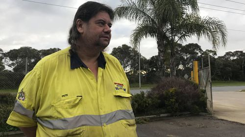 Adelaide worker Pete Warner had to stop the escape of an attempted car thief at his Green Fields business overnight.
