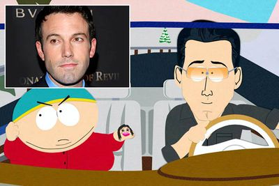 "<B>Episode:</B> 'How to Eat With Your Butt', season 5; 'Fat Butt and Pancake Head', season 7<br/><br/><B>Why it's so naughty:</B> Ben's first <I>South Park</I> appearance revealed he suffers from ""torsonic polarity syndrome"", a disease that makes your face look like your butt. In his second appearance he does something <I>very</I> kinky with Cartman, whose hand is ""possessed"" by Ben's then-girlfriend Jennifer Lopez.<br/><br/><B>Quote:</B> [""Jennifer"" sings to Ben] ""Ben, you are so perfect, so spectacular in every way. You bring light into my life, Ben. You almost make me forget all about... tacos."""