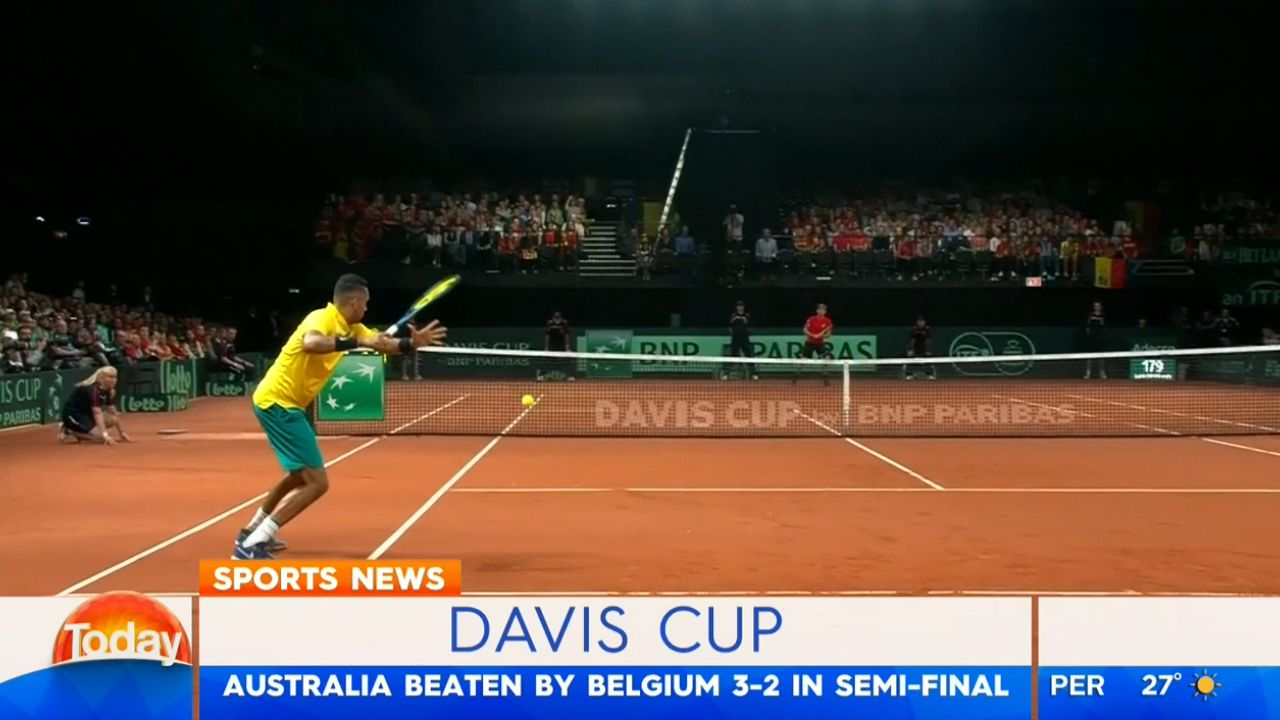 Aussies crash out of Davis Cup against Belgium