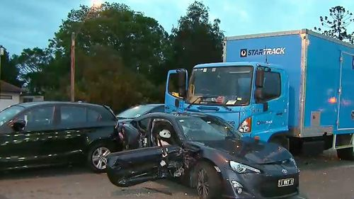 Several injured in 10-vehicle pile-up in Brisbane's north