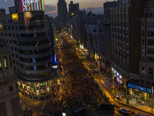A protest in Madrid.