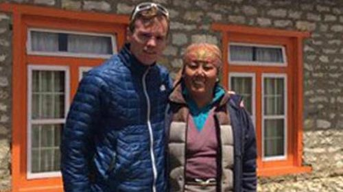 Dutchman Eric Arnold (left) made it to the top before succumbing to altitude sickness.