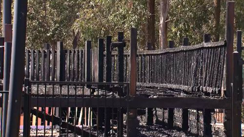 The playground was completely destroyed.