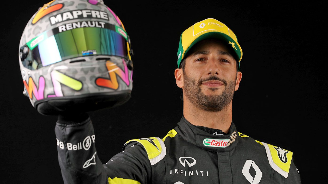 Daniel Ricciardo of Australia and Renault Sport F1 poses for a photo in the Paddock