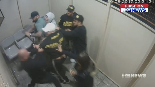 The fight began in the smoker's area of the club before escalating. Picture: 9NEWS