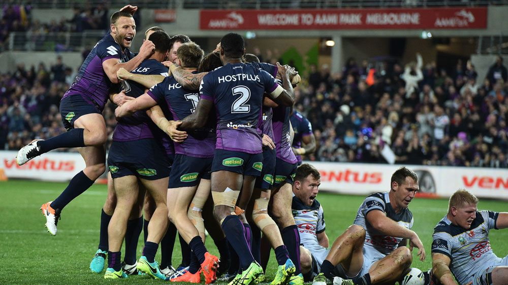 Storm beat Cowboys 16-10 in NRL qualifier