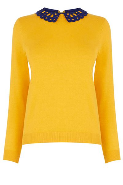 """<a href=""""http://oasis.andotherbrands.com/the-sweet-collared-sweater?lng=en-AU&ctry=AU"""" target=""""_blank"""">Top, $63, Oasis</a>"""
