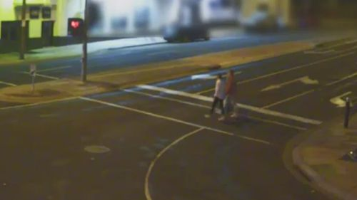 Police continue to search for three men following the attack outside The Grand Hotel in Frankston on November 25 last year. (Victoria Police)