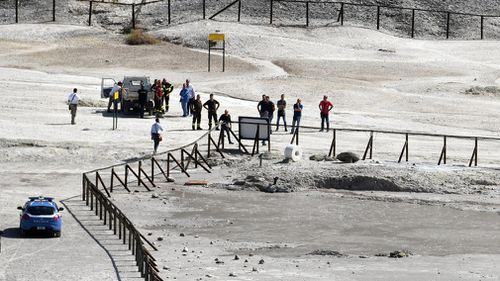An 11-year-old boy and his parents died after they fell into a volcanic field in Italy. (AAP)
