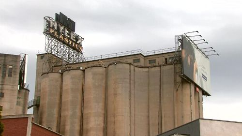 The famous clock is perched on top of silos in Cremorne, overlooking the Yarra River. (9NEWS)