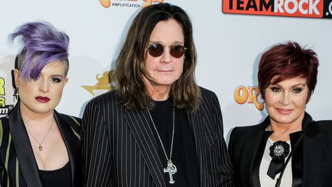 Kelly Osbourne, musician Ozzy Osbourne and Sharon Osbourne attend the Classic Rock And Roll Honour 2014 Award Ceremony.