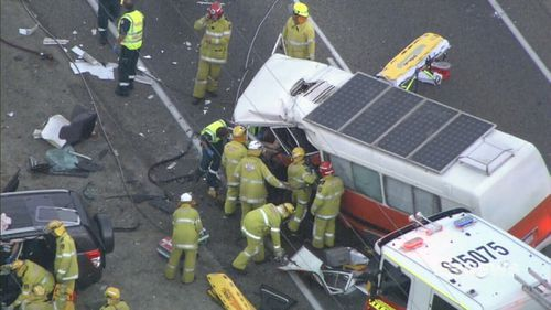 Multiple people were believed to be trapped in the crash. (9NEWS)