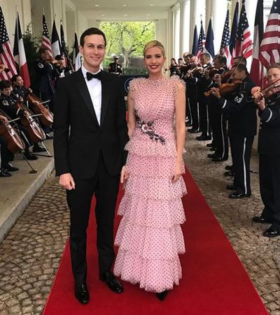 Ivanka Trump in Rodarte for a state dinner at the White House in Washington, April, 2018