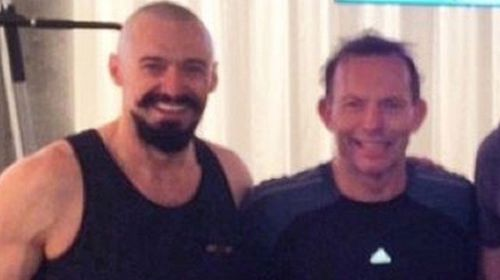 PM pumps iron with Hugh Jackman in US