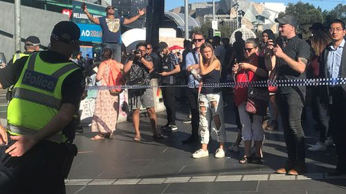 The scene caused chaos in one of the city's busiest streets.