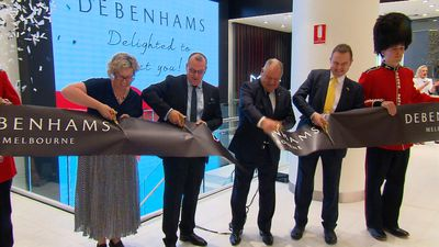 Hi-tech shopping as first Aussie Debenhams opens