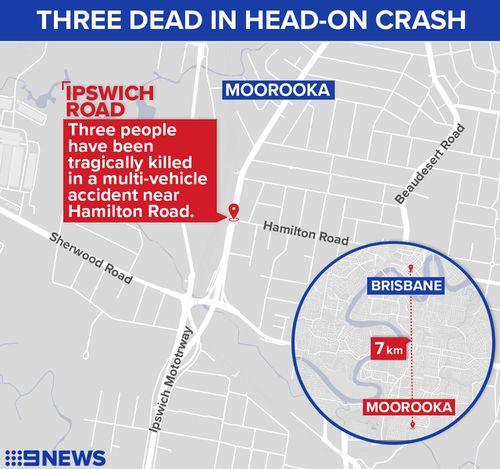 The accident happened at Hamilton Rd in Moorooka. Image: 9News