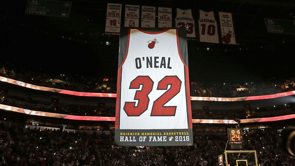 Miami Heat retire Shaq's No.32 jersey