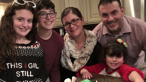 Joe, 42, died last weekend from complications with coronavirus. Like other families across the US right now, Lewinger had to say goodbye to her husband virtually, over FaceTime in their case.