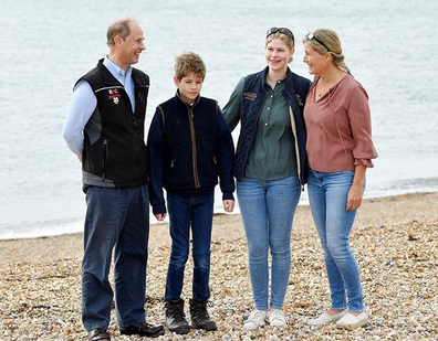 The Duke and Countess of Wessex head to Southsea Beach to pick up litter.