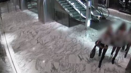 Security guards at Westfield Sydney have been using surveillance cameras to film and share images of unsuspecting female shoppers. (A Current Affair)
