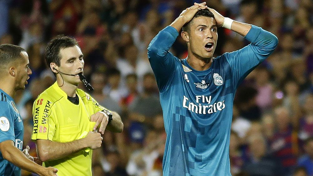 Real Madrid's Cristiano Ronaldo hit with 5-match ban for pushing referee against Barcelona