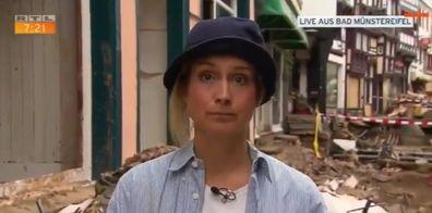 Susanna Ohlen German TV reporter floods fired