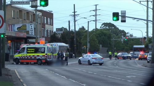 Witnesses say the man was struck by a public bus when crossing the road.