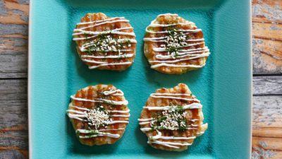 "<a href=""http://kitchen.nine.com.au/2016/06/06/13/26/cocktail-okonomiyaki-japanese-pancakes"" target=""_top"">Cocktail Okonomiyaki (Japanese pancakes)<br> </a>"