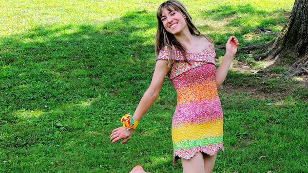 Emily Seilhamer's Starburst wrapper dress