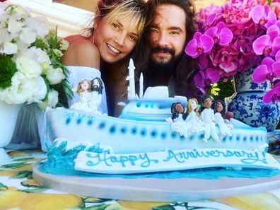 Heidi Klum, new husband, German musician Tom Kaulitz, Instagram photo