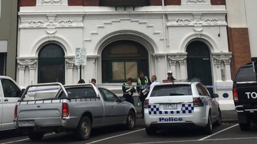 A man has been found fatally stabbed at a social housing facility in Williamstown. (SebCostello /9NEWS)