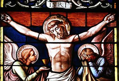 Crucifixion stained glass window (Getty)