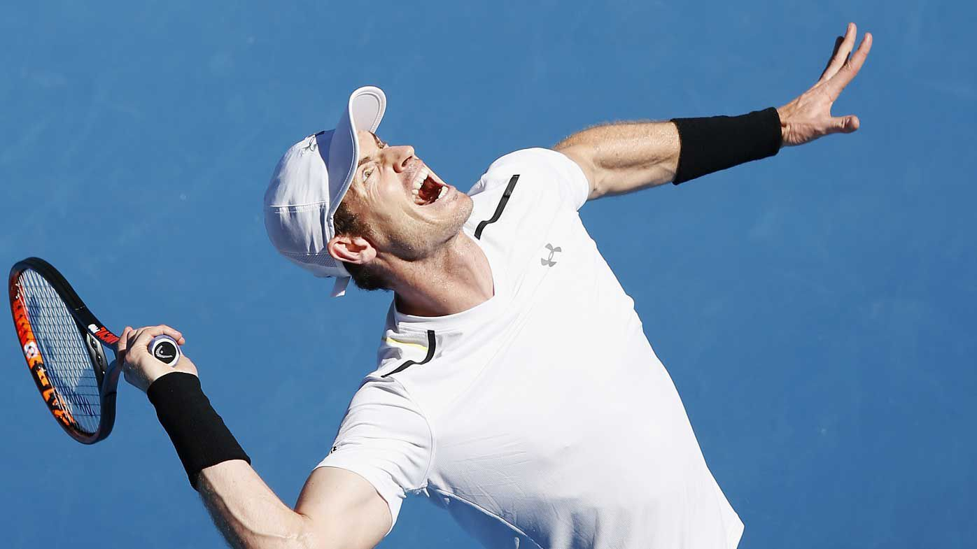 Andy Murray at the Australian Open.
