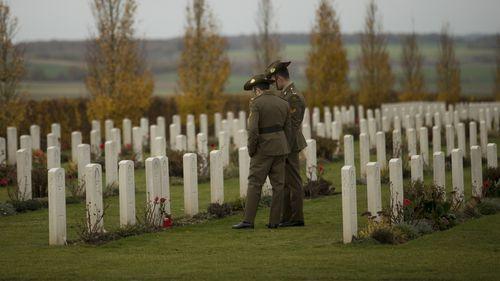 More than 2400 Australians died at Villers-Bretonneux.