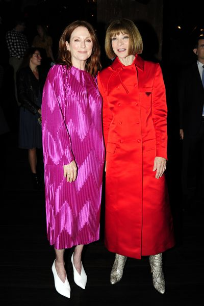 Julianne Moore and Anna Wintour attend The Cinema Society And Brooks Brothers Host The After Party For Sony Pictures Classics' 'The Happy Prince' at Mr C. Seaport on October 8, 2018 in New York City.