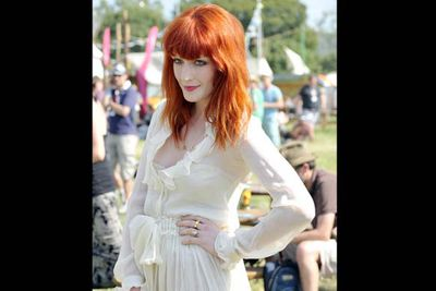 Florence goes for the ethereal look and looks stunning, but is it all a bit too much?<br/><br/><i>Florence Welch backstage at Glastonbury Festival 2010 <br/>Image: Roger Southwell/Snappermedia </i>