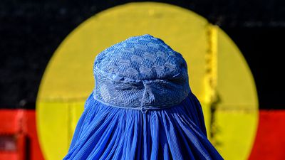 "<p>The ideas for his original burqa series came off the back of Tony Abbott's push to Ban The Burqa in parliament in 2014.</p> <p>&nbsp;</p> <p>Muir, who doesn't have an Afghani background, says he chose to use the Afghan burqa in his original series because there was ""something about that blue, which can suggest a calm as well.""</p> <p>&nbsp;</p> <p>Muir says he always wanted to convey a peaceful message within the original series.</p> <p>&nbsp;</p> <p>However, with a similar conversation again taking place in 2017, Muir says it's ""unsettling"".</p> <p>&nbsp;</p> <p>""I was gobsmacked because even I couldn't have thought of <em>that</em> image,"" he says of Pauline Hason's stunt, wearing a black burqa into the Senate.</p> <p>&nbsp;</p> <p>""This just seems to be rank stupidity and provocation and sums up who she is.&nbsp;That is unsettling,"" he adds.</p> <p>&nbsp;</p> <p>""I've travelled through more than 20 Muslim countries in my time and had, not exclusively but by and large, extremely positive experiences and this kind of work is informed by those experiences. </p> <p>&nbsp;</p> <p>""So I think if Hanson went off and spent a couple of weeks in Iran or something, she might suddenly think 'these people are actually quite nice', rather than taking a simplistic approach which is informed by a lack of knowledge and lack of experience.""</p> <p>&nbsp;</p>"
