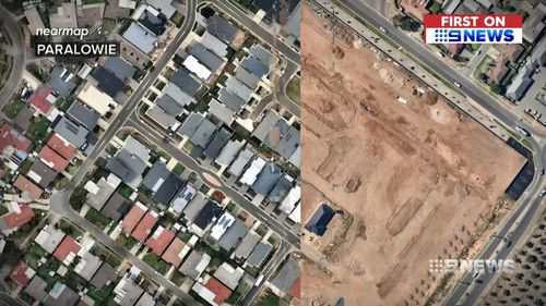 From empty paddocks to residential properties. Adelaide has undergone a rapid expansion. Picture: 9NEWS