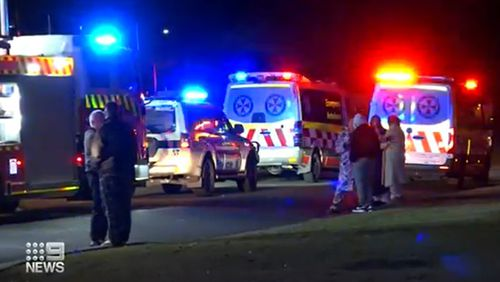 Emergency services at the scene of the Bargo smash.