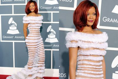 Tulle or toilet paper, RiRi? <br/><br/>Either way we don't understand it and it's stressing us out.