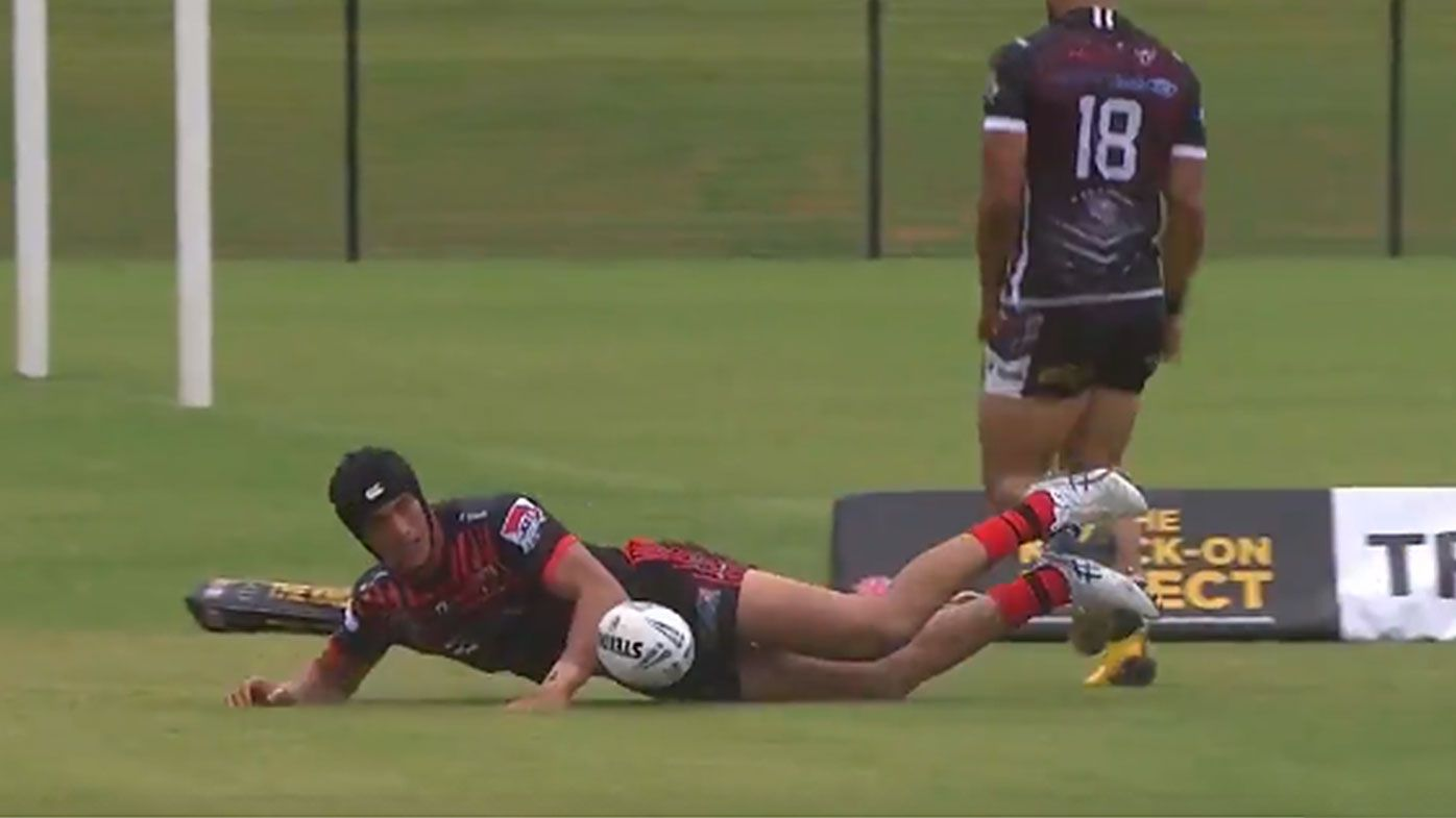 Joseph Suaalii shines in first senior competitive game with two tries